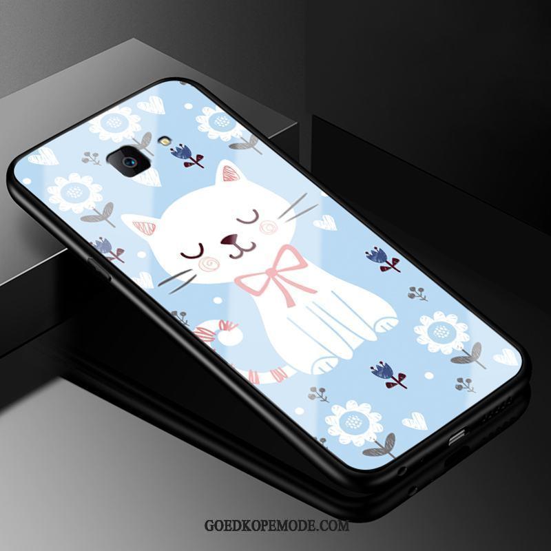 Samsung Galaxy J4+ Hoesje All Inclusive Glas Mobiele Telefoon Mooie Spotprent