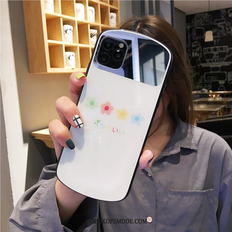 iPhone 11 Pro Max Hoesje Anti-fall Glas Wit Spiegel Mobiele Telefoon