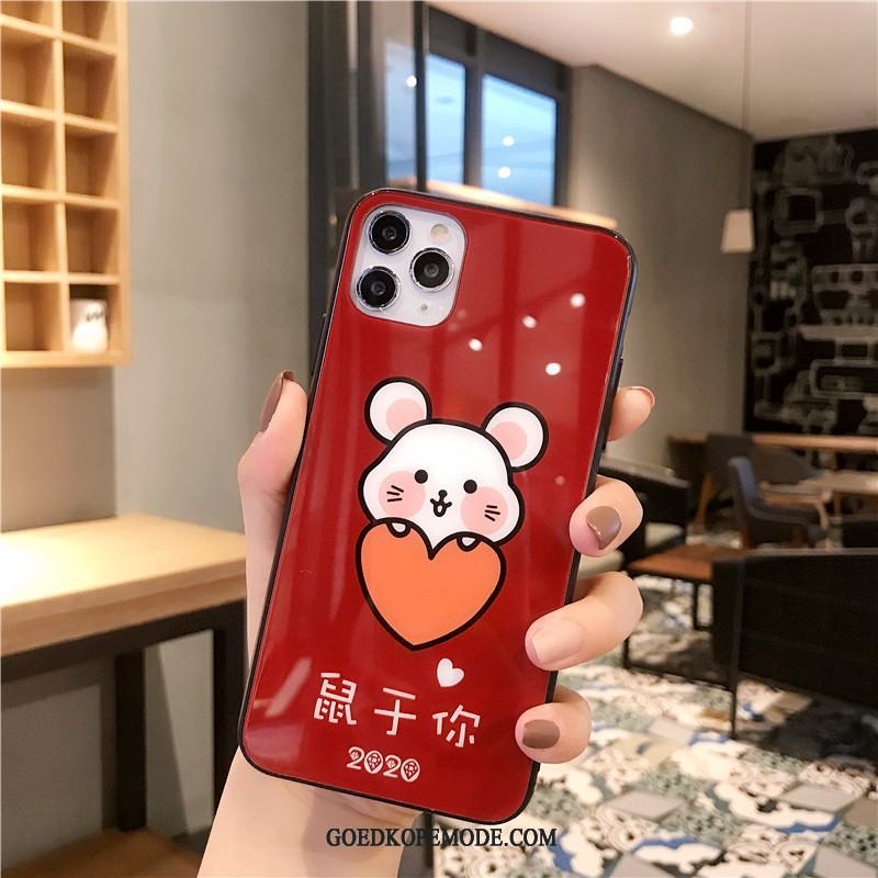 iPhone 11 Pro Max Hoesje Mobiele Telefoon Nieuw Rat Hoes Anti-fall