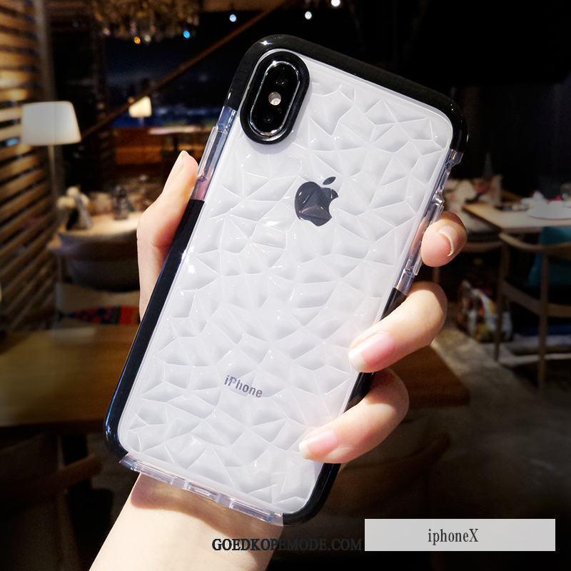 iPhone X Hoesje Hoes Zacht Scheppend Roze Anti-fall