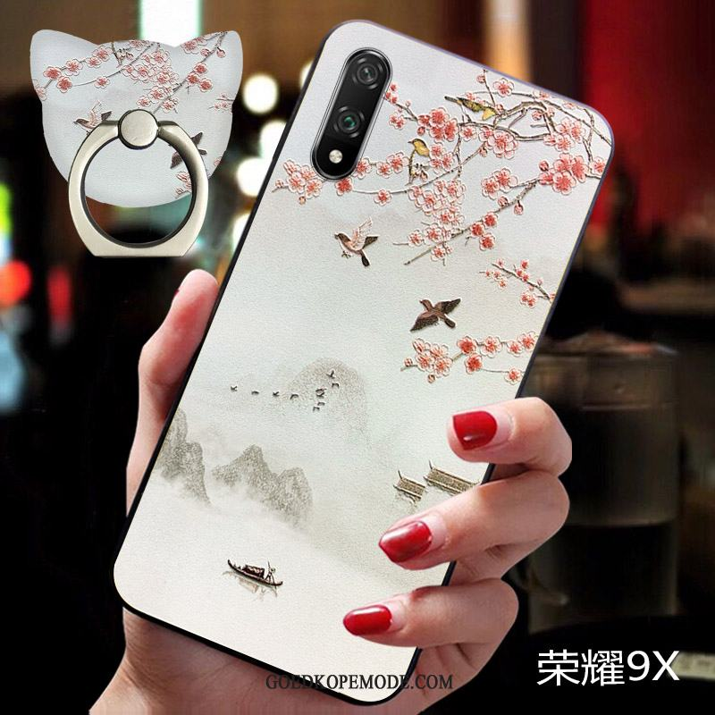 Honor 9x Hoesje Persoonlijk Siliconen Chinese Stijl Anti-fall Scheppend