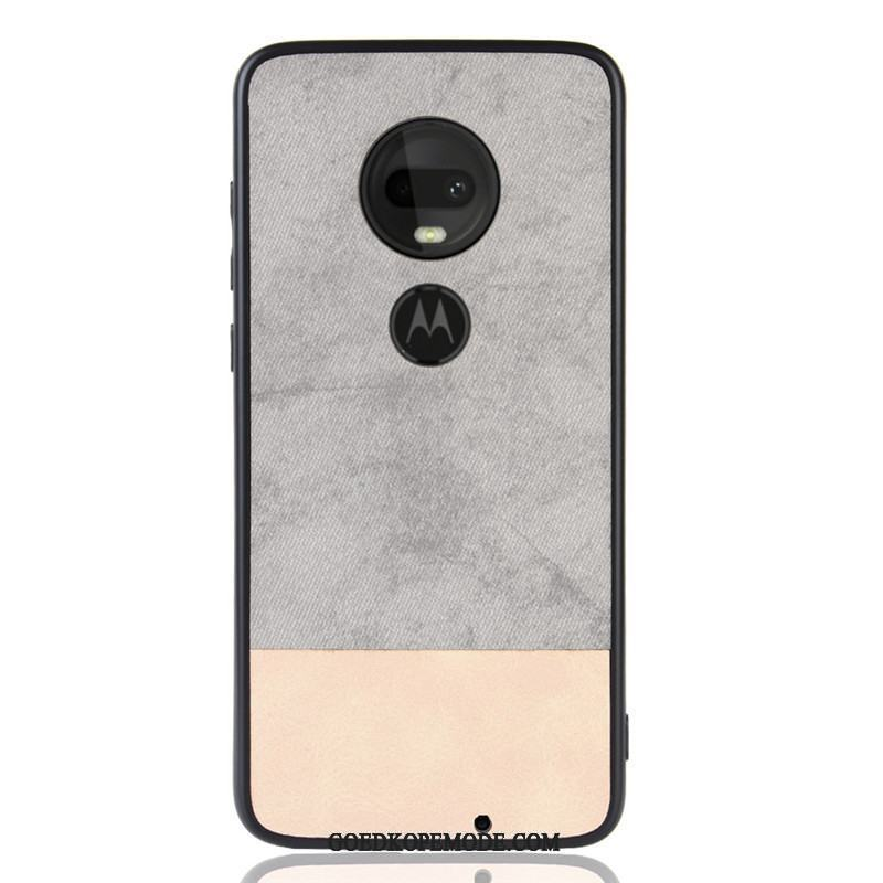 Moto G7 Plus Hoesje Mobiele Telefoon All Inclusive Anti-fall Leer Hoes