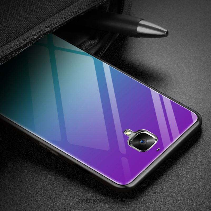 Oneplus 3 Hoesje Purper All Inclusive Anti-fall Eenvoudige Trend