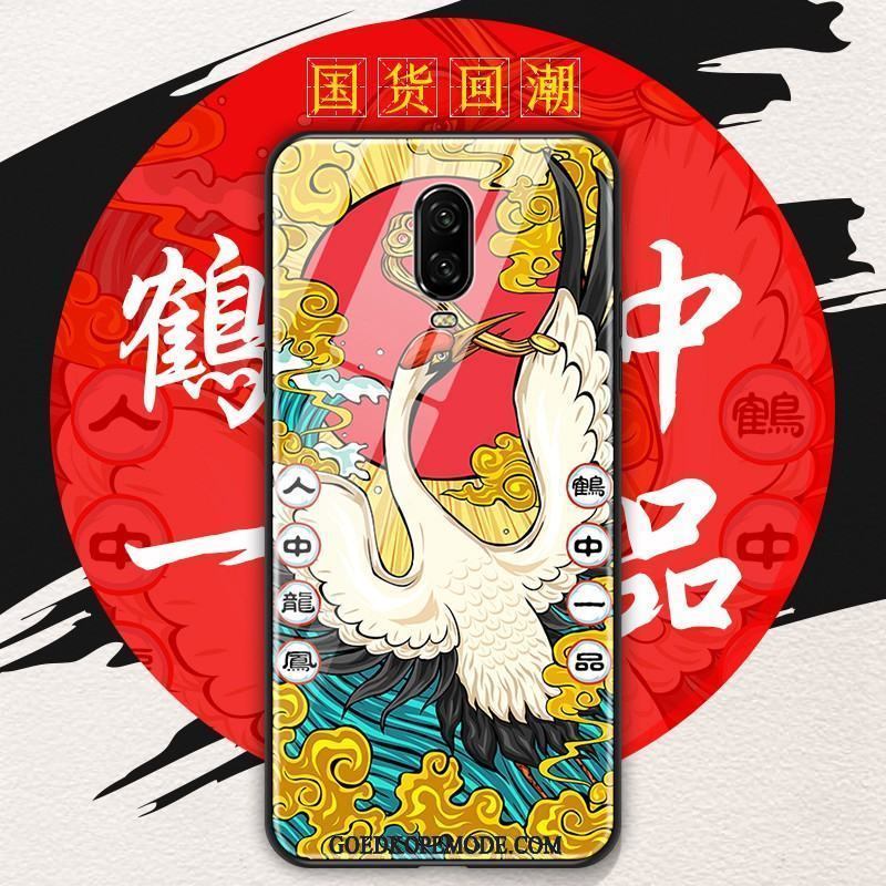 Oneplus 6t Hoesje Chinese Stijl Mobiele Telefoon All Inclusive Zacht Anti-fall