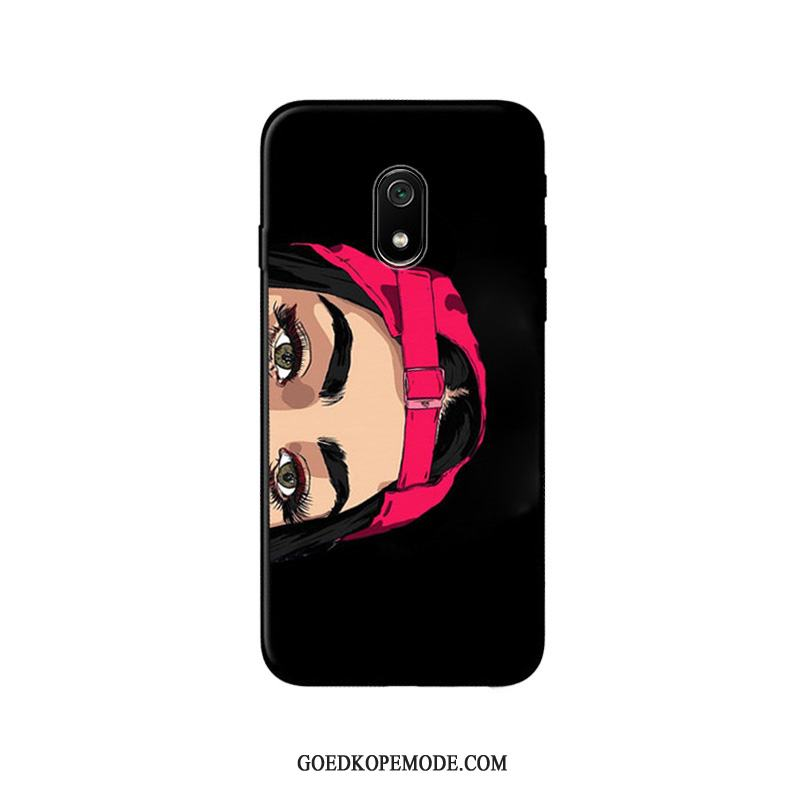 Redmi 8a Hoesje Anti-fall Trendy Merk Mobiele Telefoon Lovers Zwart