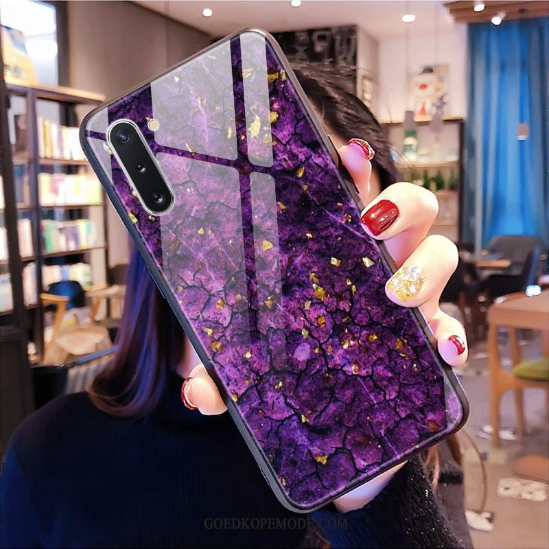 Samsung Galaxy Note 10 Hoesje Persoonlijk Glas Purper All Inclusive Ster