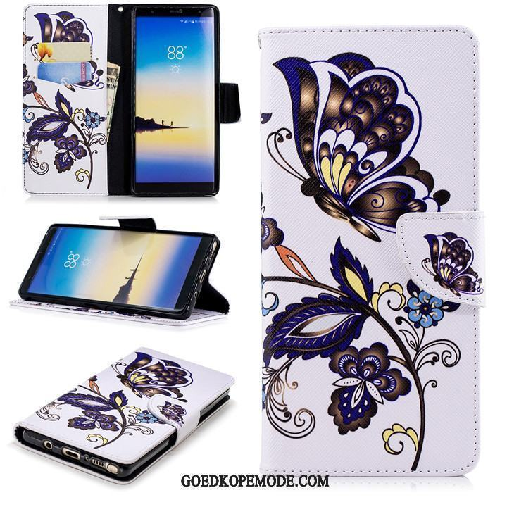 Samsung Galaxy Note 8 Hoesje Zacht All Inclusive Anti-fall Hoes Leren Etui