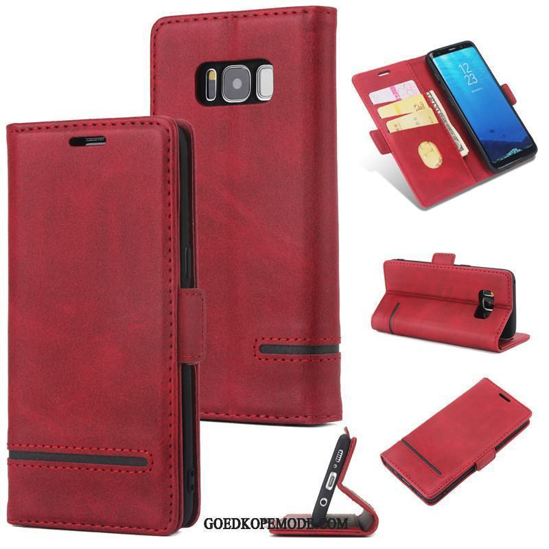 Samsung Galaxy S8 Hoesje Scheppend All Inclusive Mobiele Telefoon Rood Ster