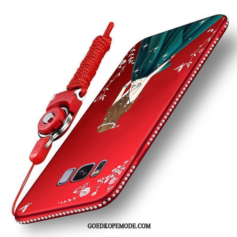 Samsung Galaxy S8 Hoesje Ster Hoes Schrobben All Inclusive Rood